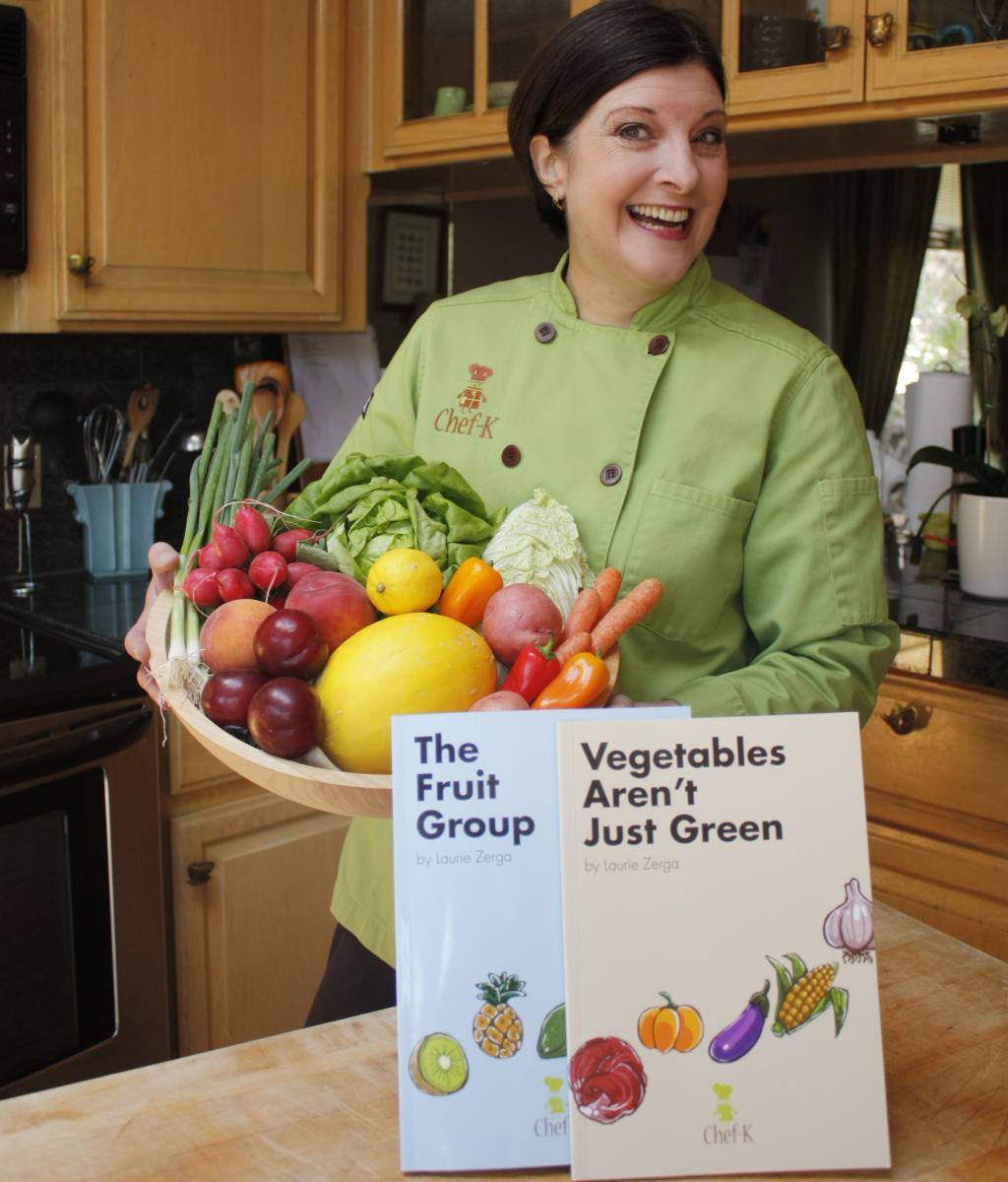 Chef-K Book Store - Children's Books - Vegetables Book & Kid's Fruit Group Book
